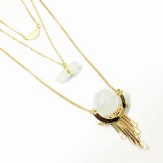 Three Layer Crystal Orb Necklace MULTI LAYER CRYSTAL ORB AND PRISM FRINGE NECKLACE                                                          Each item will be individually and nicely packaged and ready for retail.   I would say, pick the pieces you like and resell the rest. That's what I do! Deux Box  Jewelry Necklaces