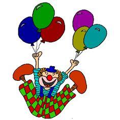 Coloriage Clown Volant a imprimer