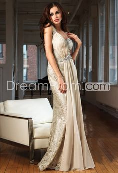 @Katie Schmeltzer Boedecker this reminds me of your Daisy/gatsby dress <3 US $272.09 Free Shipping Fashionable A-Line Watteau Train Evening Dresses
