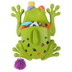 #Bañarse nunca había sido tan #divertido!   Esta rana sirve para recoger, secar y almacenar los utensilios y juguetes de baño de tu bebé Ayuda a la limpieza del baño, al proporcionar una pala con drenaje para recoger y secar los juguetes y una base montada en la pared para almacenar los productos de baño. El Frog Pod se fija a la pared de la bañera mediante una cintas adhesivas o tornillos. Aseo y baño : Frog Pod - www.wombox.co #bebe #mama #baño #maternidad #embarazo