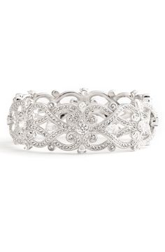 Add a little sparkle with the 'Celtic Knot' Crystal Bangle
