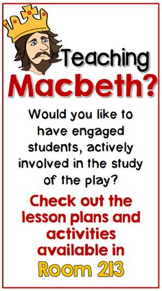 Engaging lessons that require critical thinking and make the play relevant to 21st century students. #macbeth