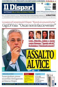 La copertina del 17 novembre 2015 #ischia #ildispari