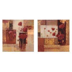 Red Poppies Canvas Art Prints, Set of 2   Kirklands- bathroom