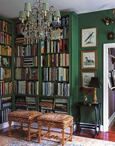 壁と一体になった本棚