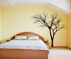 Bare Tree 3 Vinyl Wall Decal 22222 on Luulla Tree Decal Nursery, Tree Decals, Vinyl Wall Decals, Vinyl Art, Bare Tree, Room To Grow, House Wall, Tree Wall, Home And Living