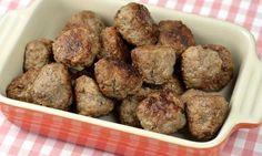 Köttbullar med nötfärs | Receptfavoriter