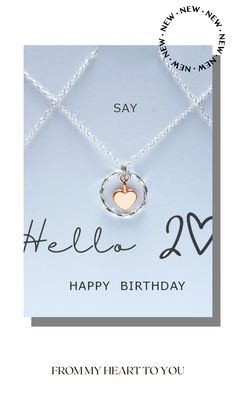 20th Birthday, Happy Birthday, Sweet Messages, Tiny Heart, Beautiful Gift Boxes, Sterling Silver Necklaces, Special Day, Etsy Seller, Handmade Jewelry