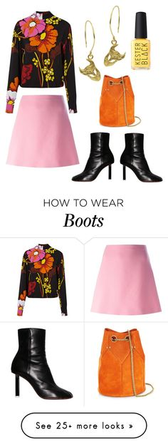"""black floral"" by annikaburman on Polyvore featuring Marni, Vetements and Jérôme Dreyfuss"