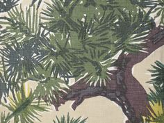 "Gorgeous vintage Schumacher 'Pinehurst"" drape/home decor fabric. Draped Fabric, Curtain Fabric, Vintage Trailers, Home Decor Fabric, Schumacher, Pine Tree, Eames, Plant Leaves, Mid Century"