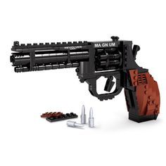 Ausini SWAT Magnum Revolver Pistol Power GUN Weapon Arms Model Assembled Toy Brick Building Sets Weapon Compatible With gift