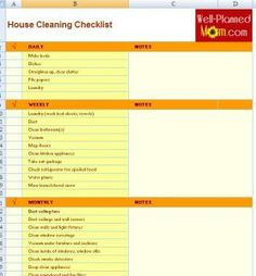 The Schedule House Cleaning Checklist Template is designed to keep your house organized, because you can write everything according to your needs. To design a checklist, have a look of your house, and check which places are need to be cleaned on regular basis.
