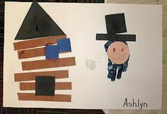 Abraham Lincoln & Log Cabin Craft