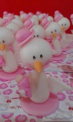 Ideas para souvenirs de baby shower porcelana fria cigüeña