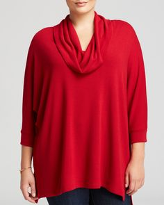 Karen Kane Plus Size Fashion Red  Cowl Neck Tunic | Bloomingdale's #Karen_Kane #Red  #Cowl #Neck #Tunic #Plus #Size #Fashion #Plus_Size_Fashion #Bloomingdales