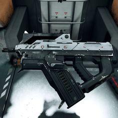 Sci Fi Weapons, Weapon Concept Art, Fantasy Weapons, Weapons Guns, Guns And Ammo, Future Weapons, Fire Powers, Cool Guns, Assault Rifle