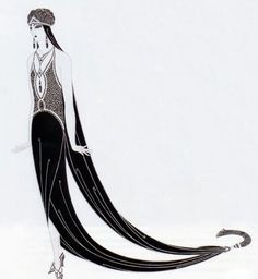 1925: 'The Mystic'. Costume design by Erté - @~ Mlle
