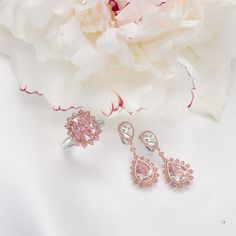 Leviev, pink diamonds, pink diamond, diamond ring, diamond earrings