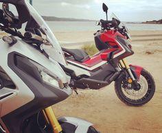 Petite promenade sur la plage avec le #Honda #Xadv et ça passe !
