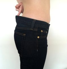 Fix the waistline of your jeans. Sewing DIY