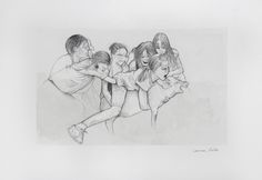«Miserable III» de Carmen Ávila Grafito y acuarela / papel - Graphite and watercolor on paper   22.9 x 30.5 cm   2015 www.dasubstanz.com/miserable