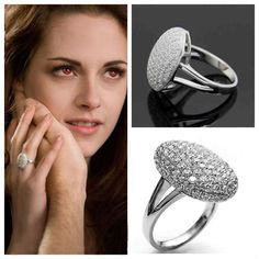 Valentine's Day Gift for Her Twilight Saga Bella Silver CZ Engagement Cluster Ring Size 6 7 8 9 10 NWT #PAVE #RING www.stores.ebay.com/styleontherun4u