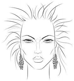eye makeup techniques for over 50 makeup techniques asian Makeup Illustration, Illustration Sketches, Drawing Sketches, Body Sketches, Illustrations, Sketching, Face Line Drawing, Female Drawing, Drawing Women