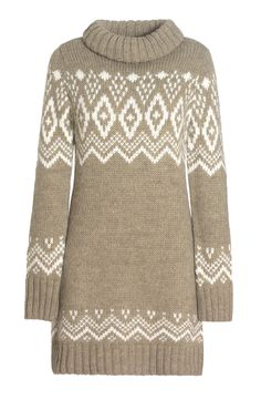 Alpine Style Sweater Dress- Add tights and some boots