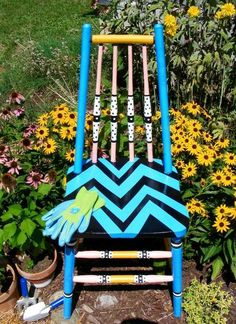 sassy garden whimsey chair , how to, landscape, painted furniture