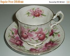 Vintage Paragon china teacup and saucer Paragon by DivaDecades