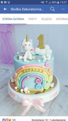 New unicorn birthday cake kids ideas - # unicorn cake cake . - New birthday cake unicorn kids ideas - Bolo Fack, Unicorn Cake Topper, Unicorn Cakes, Unicorn Rainbow Cake, Cake Rainbow, Baby Birthday Cakes, 1st Birthday Cake For Girls, Birthday Ideas, 17th Birthday