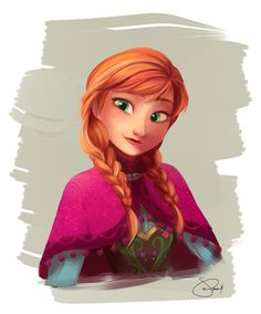 Anna (from pixiv) #disney #frozen #fanart