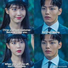 Korean Drama Quotes, Korean Language Learning, Drama Fever, Weightlifting Fairy, Movie Lines, Moon Lovers, Feeling Lonely, Drama Movies, Red Wedding