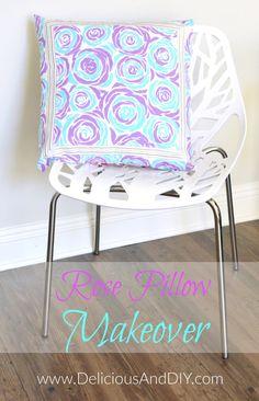 Rose Pillow Makeover