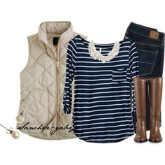 """J.Crew & Pearls"" by sanchez-gaby on Polyvore"