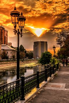 Sunset in Bucharest by Cosmin Anghel / Nature Pictures, Cool Pictures, Cool Photos, Beautiful Pictures, Little Paris, Bucharest Romania, The Beautiful Country, Beautiful Sunset, World Cities