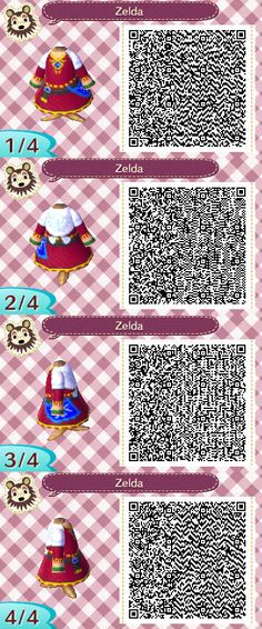 A wide choice of qr codes for Animal Crossing New Leaf and Happy Home Designer Animal Crossing 3ds, Animal Crossing Qr Codes Clothes, Animal Crossing Characters, Animal Games, My Animal, Pokemon, Motif Acnl, Ac New Leaf, Happy Home Designer