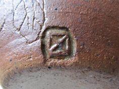 Early Takeshi Yasuda Studio Pottery Signed Stoneware Vase - Dasei Pottery Japan - X mark square mark