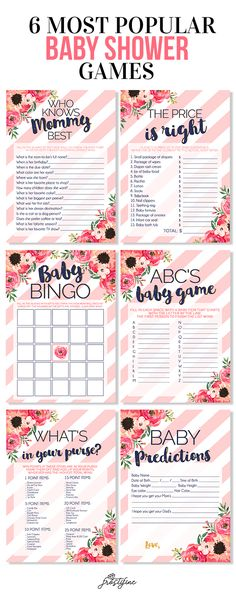 It's a Girl baby shower game card set. blush pink and navy blue with watercolor flowers. Perfect addition to our watercolor collection invitations and party decor.
