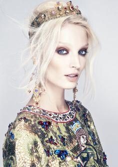 "Melissa Tammerijn in ""The Haute List"" by Thomas Cooksey for Harper's Bazaar Singapore December 2013 #byzantium"