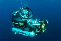 Manned submersibles allow an individual to explore deep in the ocean with the help of a team on shore