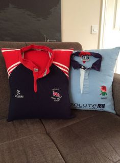 Rugby Shirt cushion THE PICTURE IS FOR REFERENCE ONLY You need to supply us with a shirt to make your cushion Have you got an old Rugby Football