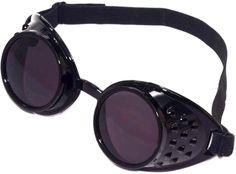 steampunk goggles (black)