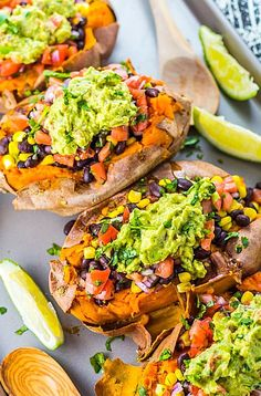 Make these Vegan Black Bean Taco Stuffed Sweet Potatoes for a satisfying Mexican dish thats healthy fresh and amazingly flavorful. Mexican Dishes, Mexican Food Recipes, Whole Food Recipes, Cooking Recipes, Healthy Recipes, Vegetarian Sweet Potato Recipes, Mexican Cookbook, High Protein Vegetarian Recipes, Healthy Soup