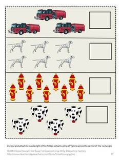 This packet contains 29 pages and makes 6 printable file folder games. These File Folder Games can be used to teach students about the danger of Fire and how to be safe. It can be used as part of Thematic Unit.  The printable file folder games include: 1. Color Matching 2. Letter Matching  3. Counting 4. Making a Pattern 5. Sorting by Size