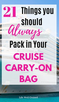 21 Essential Things to Pack in Your Cruise Carry-On - Life Well Cruised Packing List For Cruise, Cruise Tips, Cruise Travel, Cruise Vacation, Disney Cruise, Vacations, Europe Packing, Traveling Europe, Vacation Deals