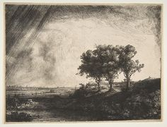 The Three Trees Rembrandt (Rembrandt van Rijn) (Dutch, Leiden 1606–1669 Amsterdam) Date: 1643 Medium: Etching with drypoint and engraving