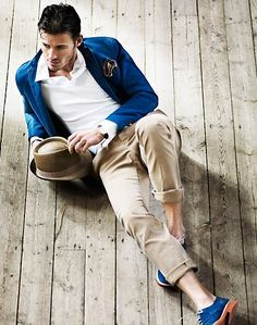 Blue style accents #fashion #mensfashion #menswear #style #outfit