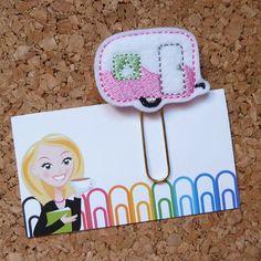 Felt Camper Bookmark | Paper Clip | Planner Clip | Refrigerator Magnet | Cute Brooch Pin |Organizer | Calendar | Planner Accessory | 271