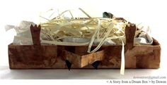 A Story from a Dream Box  <꿈에서 만난 이야기> 33 × 31 cm | recycling box, recycling paper, old book, news paper, traditional Korean paper, traditional Korean ink, glue | 2016
